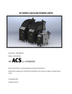 VP Series Vaccum Power Units Manual